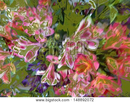 a bouquet of lilies in soft pastel colors