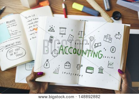 Money Accounting Financial Management Auditing Concept