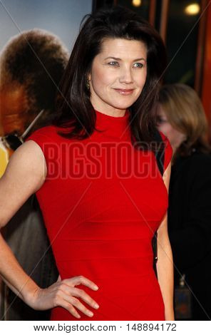 Daphne Zuniga at the World premiere of 'The Bucket List' held at the ArcLight Theaters in Hollywood, USA on December 16, 2007.