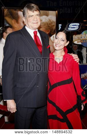 Former U.S. Congressman Charlie Wilson and wife at the World premiere of 'Charlie Wilson's War' held at the Universal Studios in Hollywood, USA on December 10, 2007.