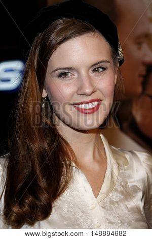 Maggie Grace at the World premiere of 'Charlie Wilson's War' held at the Universal Studios in Hollywood, USA on December 10, 2007.