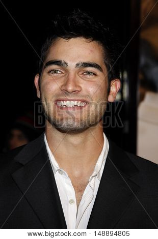 Tyler Hoechlin at the World premiere of 'Charlie Wilson's War' held at the Universal Studios in Hollywood, USA on December 10, 2007.