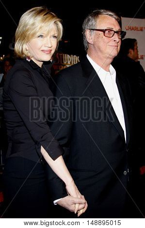 Diane Sawyer and Mike Nichols at the World premiere of 'Charlie Wilson's War' held at the Universal Studios in Hollywood, USA on December 10, 2007.