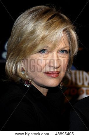 Diane Sawyer at the World premiere of 'Charlie Wilson's War' held at the Universal Studios in Hollywood, USA on December 10, 2007.