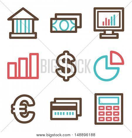 Finance mobile icon, business vector web sign. Money infographics symbols.