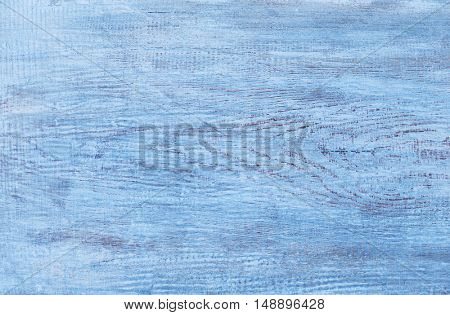Vintage blue painted wooden background