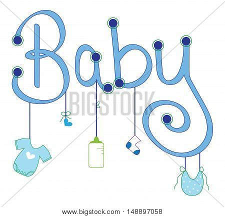 Cute Blue Baby Boy Clothes Line Items