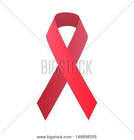 red symbolic ribbon, vector stock illustration, EPS10