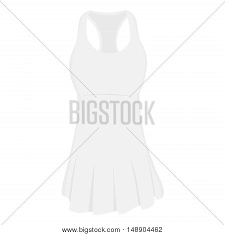 White sport dress for girl tennis dress tennis wear sports clothing. Tennis uniform