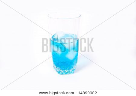 Glass with a drink and ice
