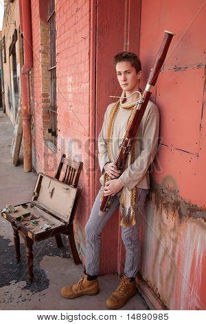 Handsome Bassoon Musician