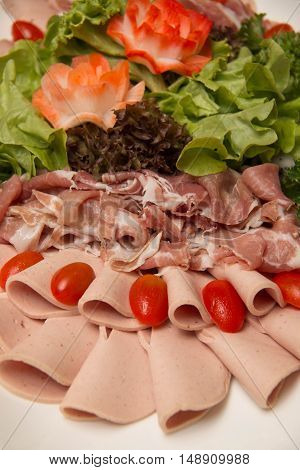 Cold cuts meat the for buffet breakfast
