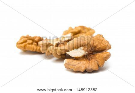 Walnuts nutty isolated on a white background