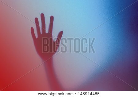 a silhouette of action of woman scream