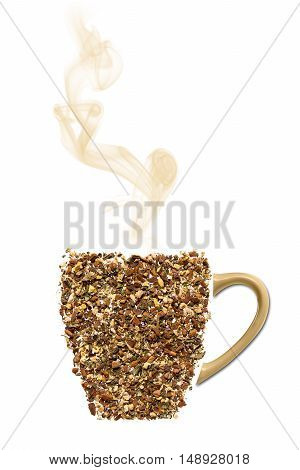 Cup of tea made from real cinnamon ginge cloves and ceramic handle