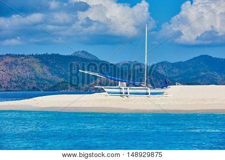 coron white sand beach Palawan Philippines