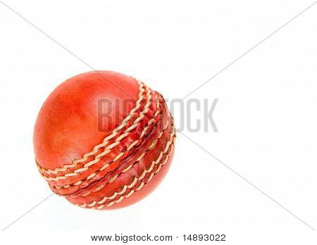 Cricket Ball, Isolated On White