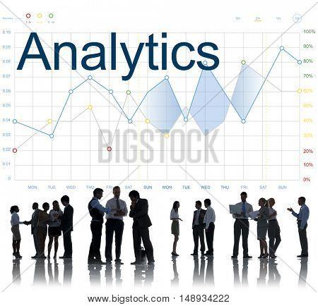 Report Analysis Progress Chart Concept