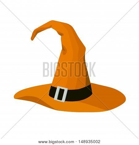 isolated witch hat halloween stylized cartoon vector illustration
