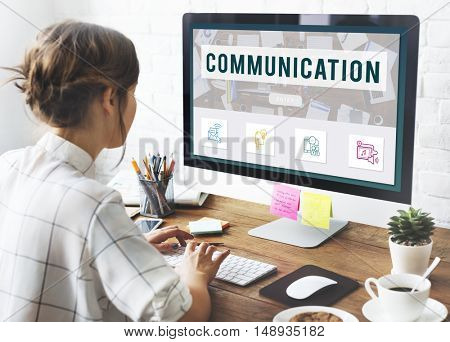 Communication Online Connection Technology Concept