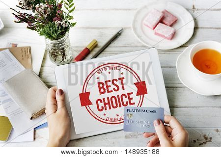 Best Choice Award Finest Winning Fulfillment Concept