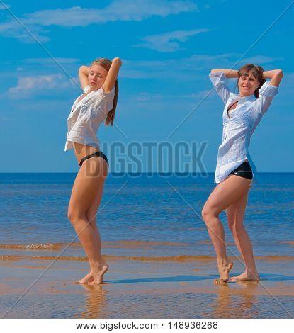 Women Couple Exercising