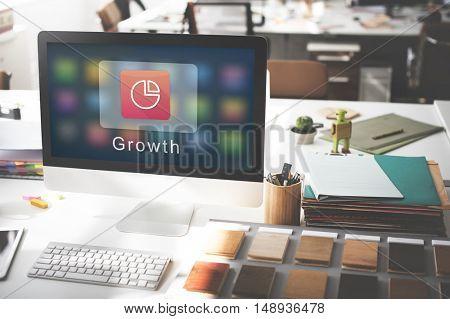 Business Corporation Statistics Pie Chart Concept