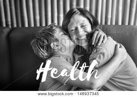 Parents Love Son Bliss Words Graphic Concept