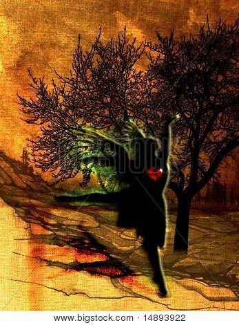 Broken hearted angel