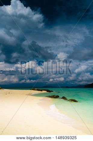 White Sand In Sunny Paradise