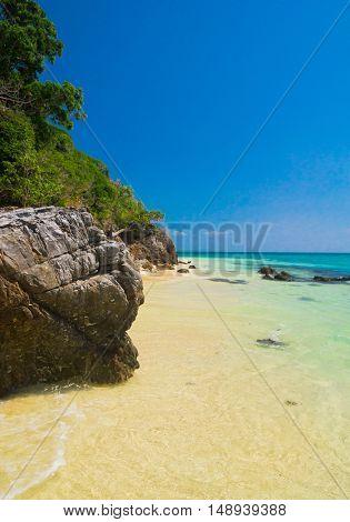 On a Sunny Beach Idyllic Place