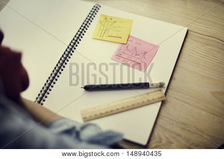Classroom Learning Book Writing Materials Concept