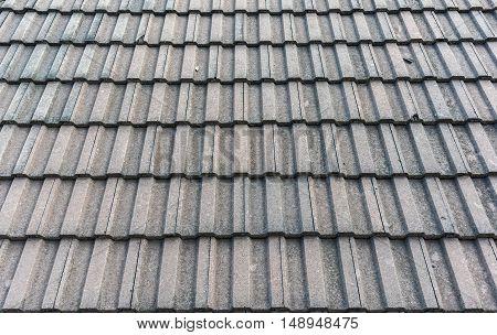 Black tiled roof for background usage .
