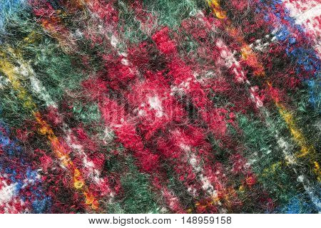 Abstract colorful mohair texture closeup as a background