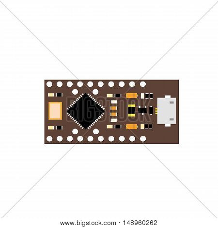 DIY electronic brown board with a microcontroller