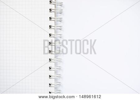 White Ruled Notebook With Ring Isolated On White Background