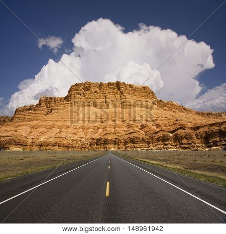 Road to rock tower