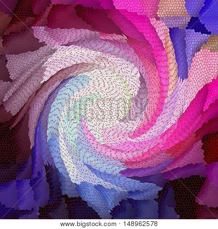 Abstract coloring background of the skyline gradient with visual cubism,lighting,stained glass and mosaic effects.Good for your project design