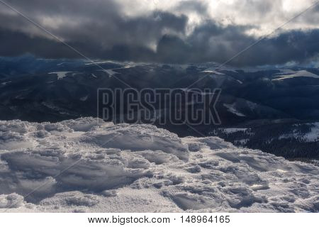 Fantastic winter landscape. Carpathians, Ukraine, Europe.