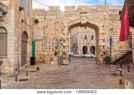 New Gate And Bab El-jadid Street, Jerusalem