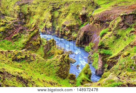 View of the Skoga River - South Iceland