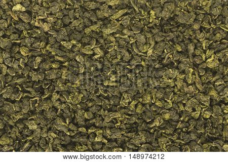 Large leaf milk oolong chinese green tea background texture