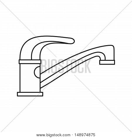 Water tap icon in outline style on a white background vector illustration