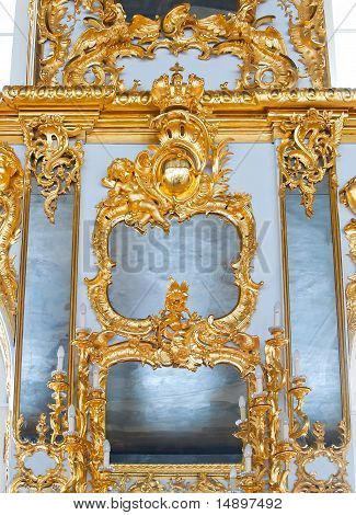 Mirrors In Gold Frames