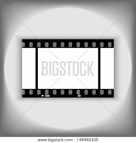 Photo frame 35mm blank. Film strip illustration. film frame vector image isolated on white background. Template photo frame design.