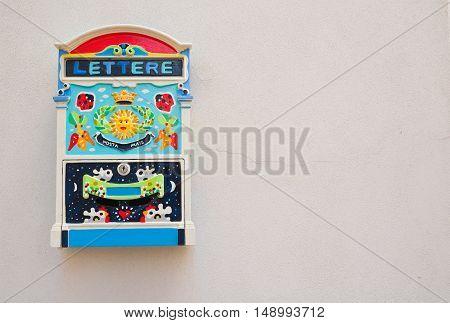 Image of a funny postbox. Rutigliano. Puglia. Italy. poster