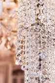 Interior elements of crystal strass white lamp poster