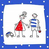cartoon girl and boy choosing gender roles gender self-determination freedom of choice humor poster