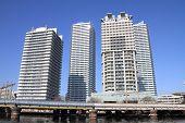 High-rise condominium in Yokohama Portside area Yokohama Japan poster