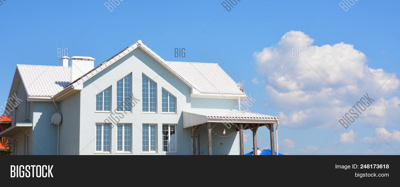Modern House White Image Photo Free Trial Bigstock